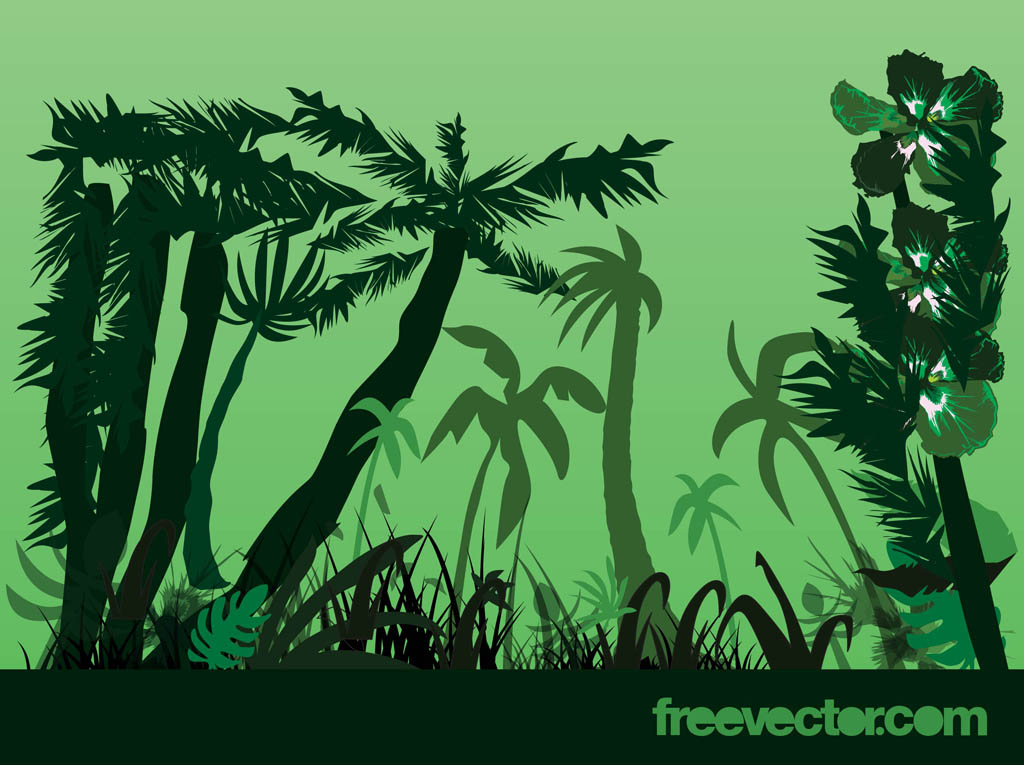 cartoon jungle plants for - photo #11