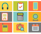 Modern Flat Style Miscellaneous Icon Set