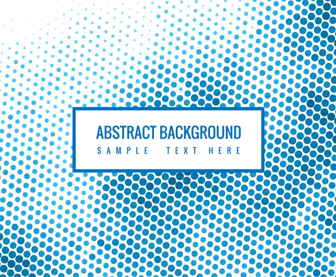 Free Vector Blue Halftone Background