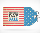 Independence Day Retro Sale Tag