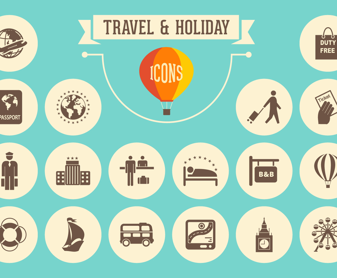 Travel And Holiday Retro Icons