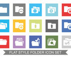 Flat Style Folder Icon Set