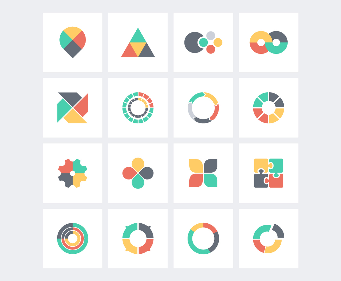 Flat Infographics Icons