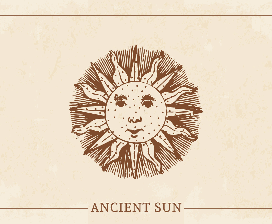 Retro Ancient Sun