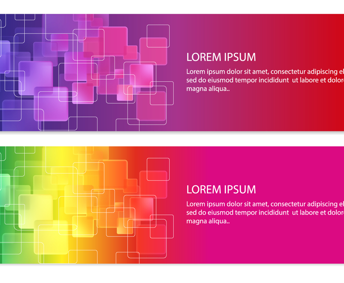 Colorful Abstract Square Banners