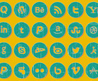 Distressed Social Icon Set