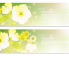 Beautiful Glowing Floral Banners