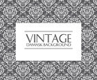 Vintage Damask Pattern Background