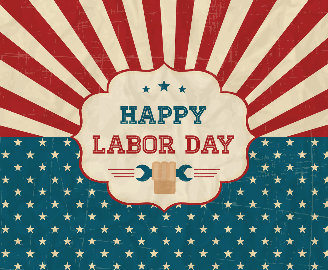 Happy Labor Day Retro Poster