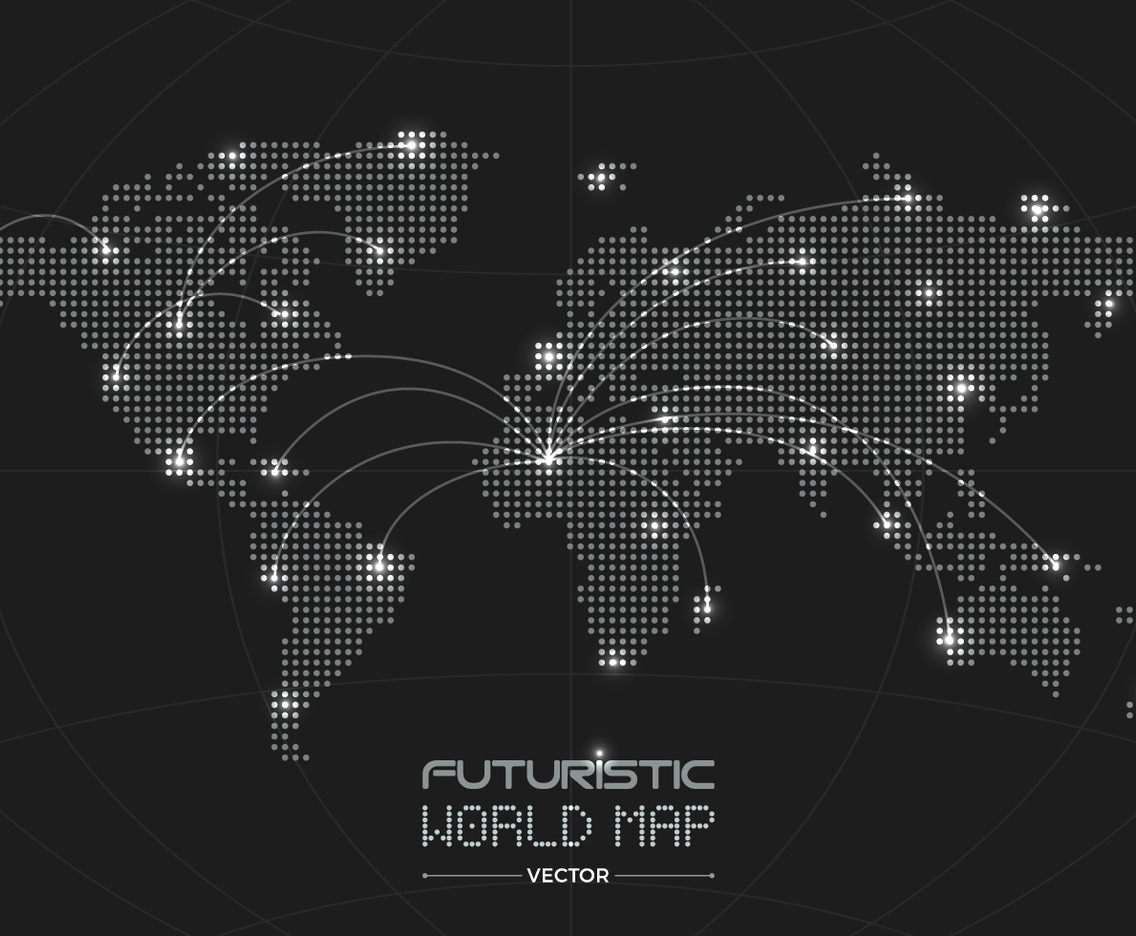 Futuristic World Map
