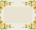 Vintage Orange Rose Frame