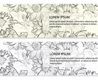 Sketchy Floral Banners