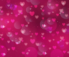 Pink Hearts Bokeh Background