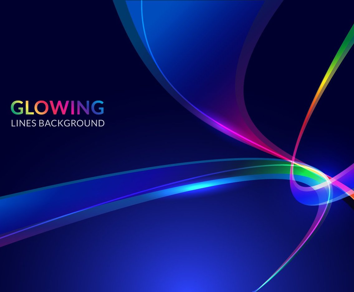 Colorful Glowing Lines Background