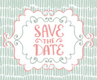 Hand Drawn Save the Date Card