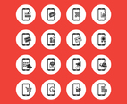 Mobile Shopping Vector Icons