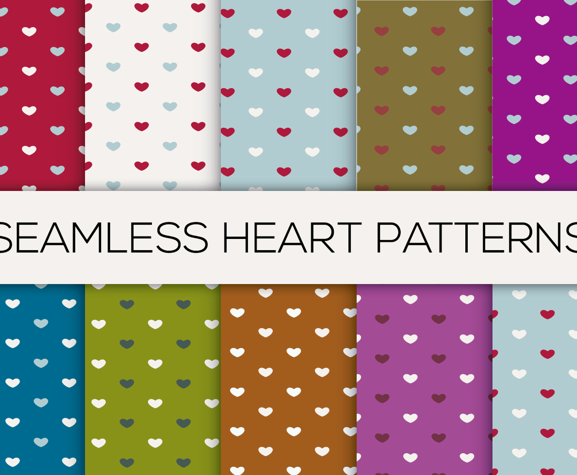 Colorful Seamless Heart Patterns