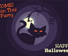 Black Cat Halloween Poster