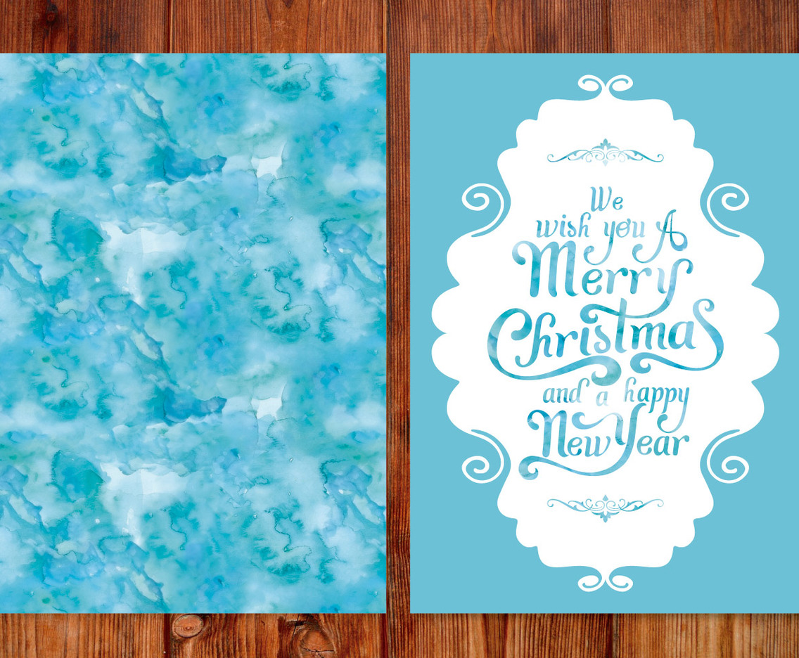 Watercolor Christmas Card Vector Art & Graphics | freevector.com
