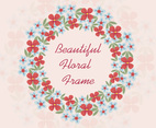 Beautiful Flower Wreath Background