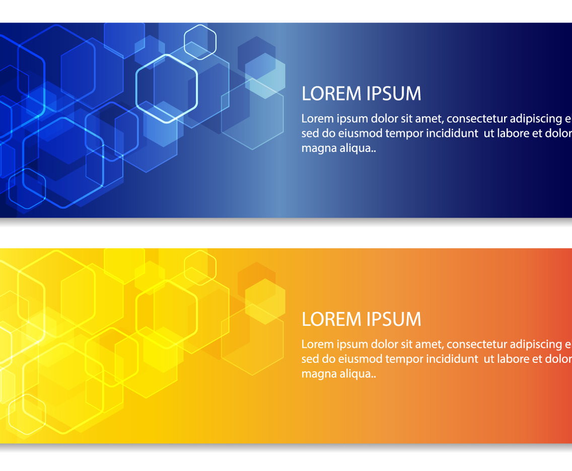 Abstract Hexagon Banners