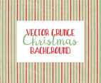 Grunge Stripe Christmas Background