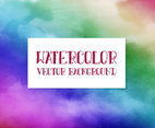 Rainbow Multicolor Watercolor Background