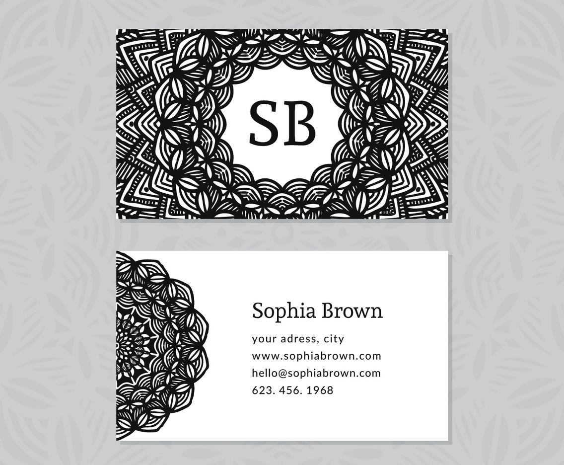 Hand Drawn Decorative Business Card
