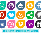 Colorful Social Media Icon Collection