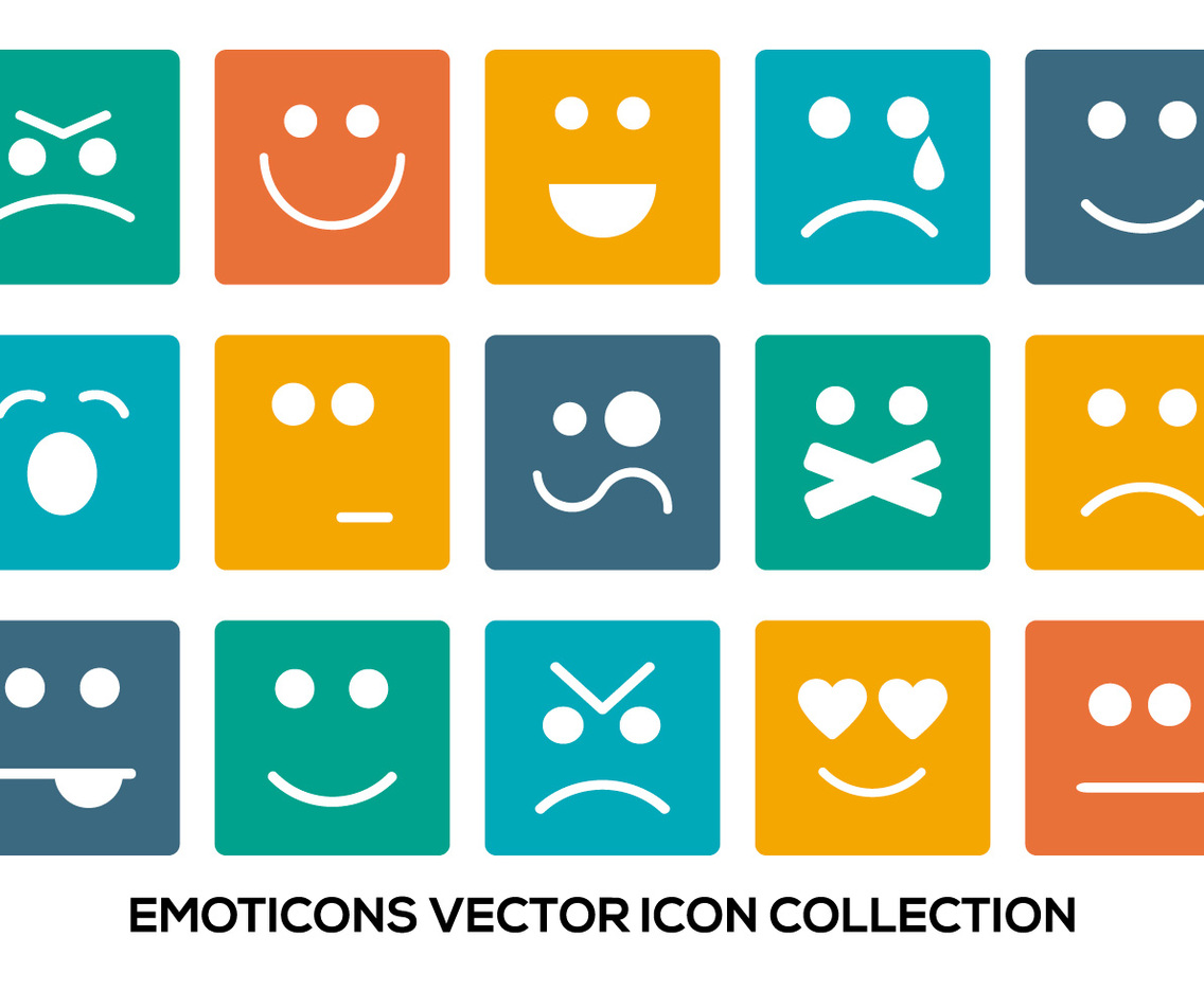 Colorful Emoticon Icon Collection