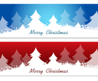 Christmas Tree Vector Banners
