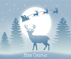 Beautiful Christmas Scene Illustration