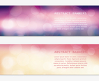 Abstract Bokeh Vector Banners