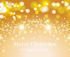 Beautiful Golden Bokeh Christmas Background