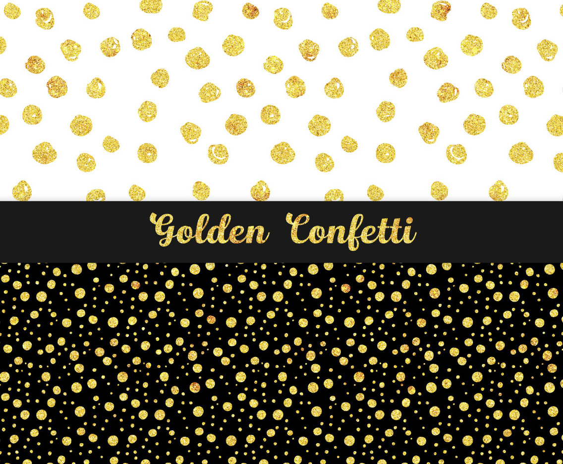 Golden Confetti Patterns