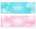Snowflakes Winter Banners