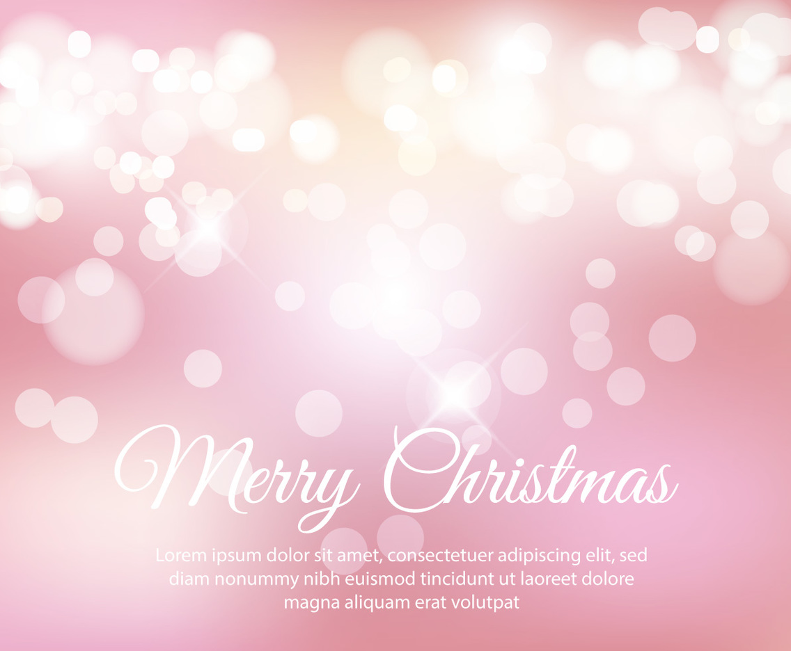 Beautiful Pink Christmas Bokeh Background