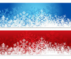 Winter and Christmas Snowflake Banners