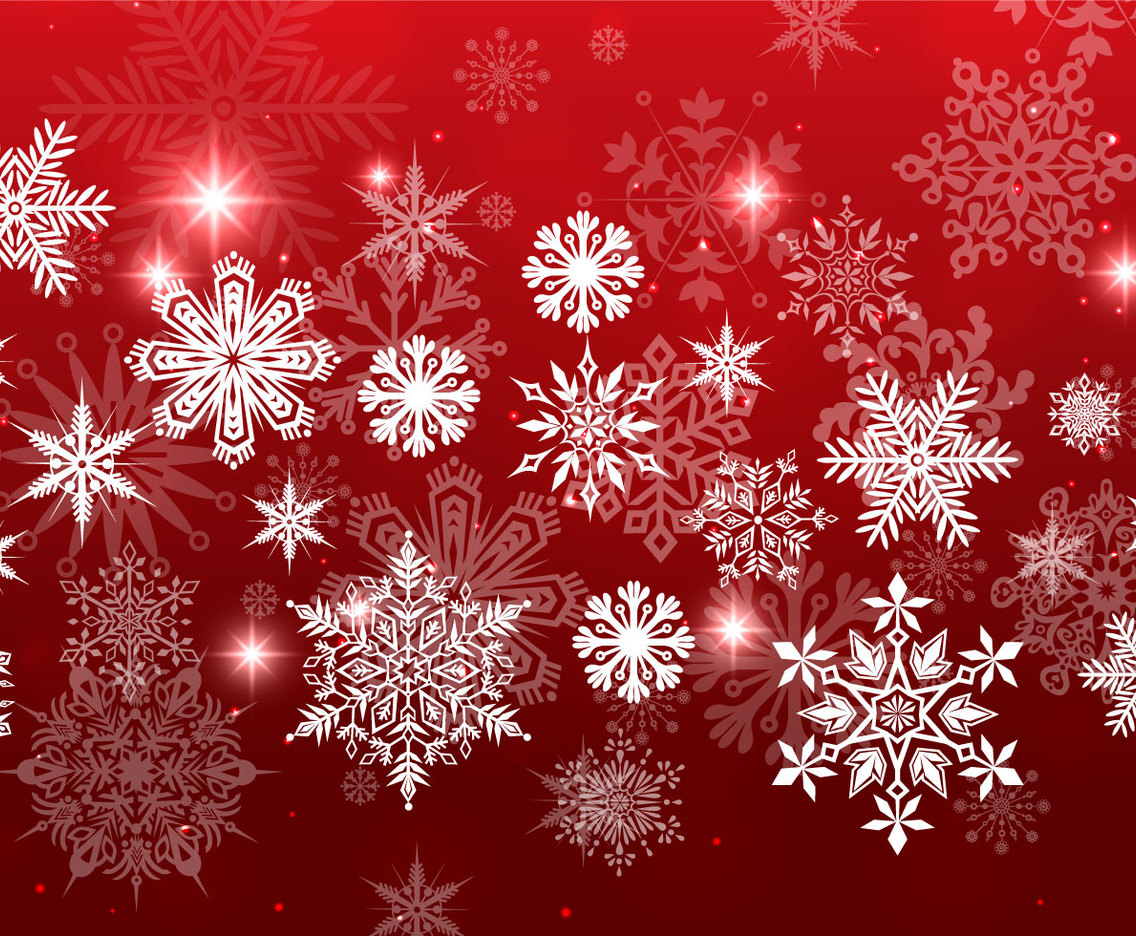 Red Christmas Background.Red Christmas Snowflake Background Vector Art Graphics