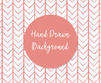 Cute Hand Drawn Pink Chevron Style Background
