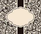 Beautiful Vintage Damask Card Template