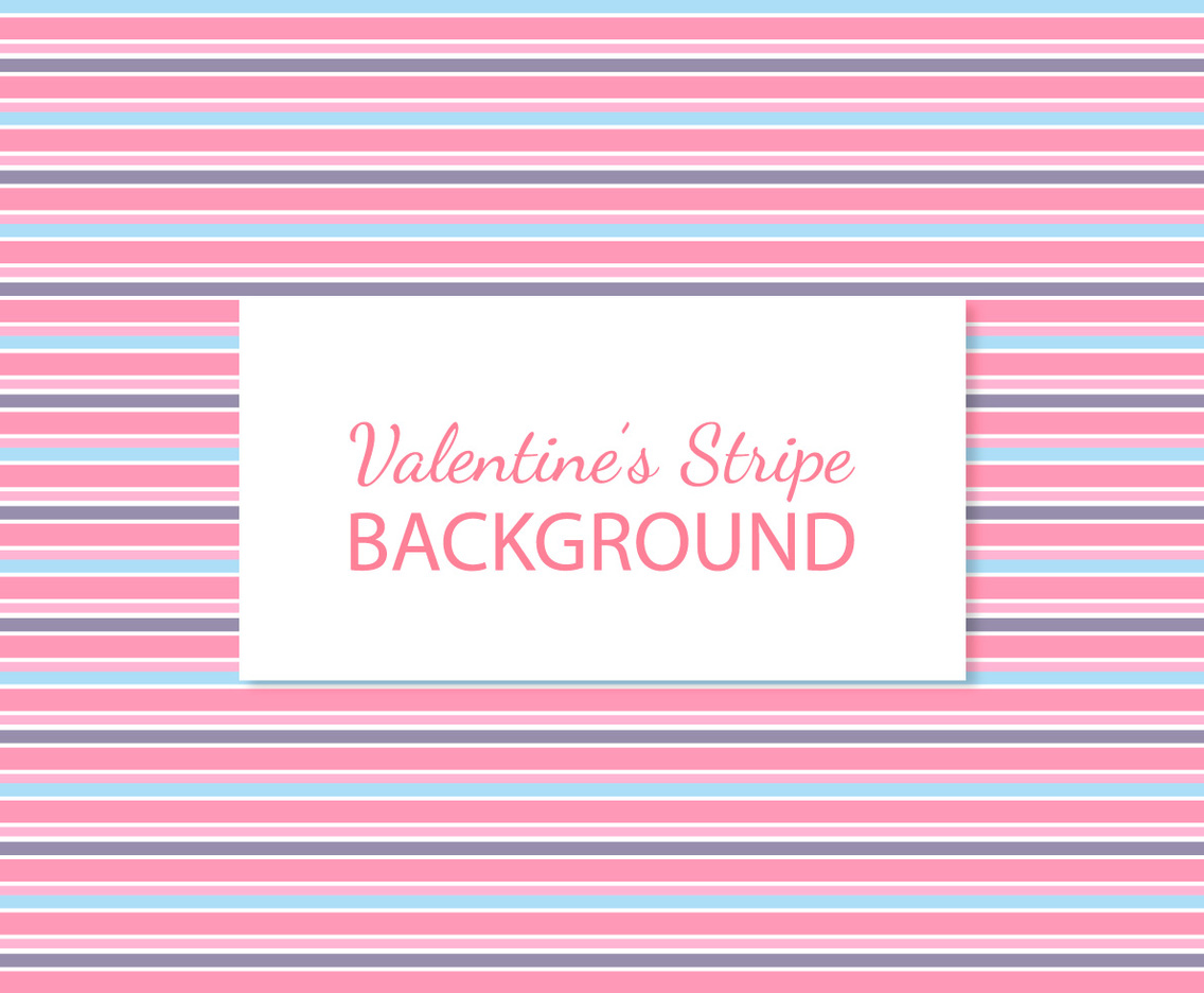 Cute Valentine's Stripes Background