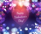 Beautiful Purple Abstract Valentine's Day Illustration
