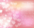 Pink Heart Bokeh Template