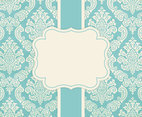 Blank Vintage Damask Card Template
