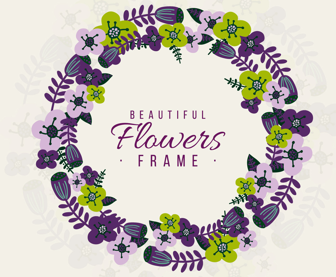 Cute Floral Frame Background