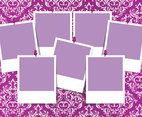 Colorful Damask Photo Collage Template