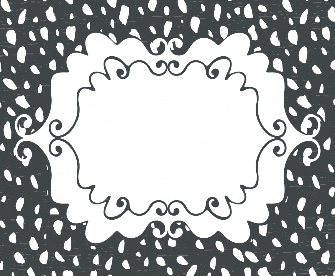 Blank Hand Drawn Style Card Background Template