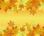 Beautiful Autumn Leaf Frame Background