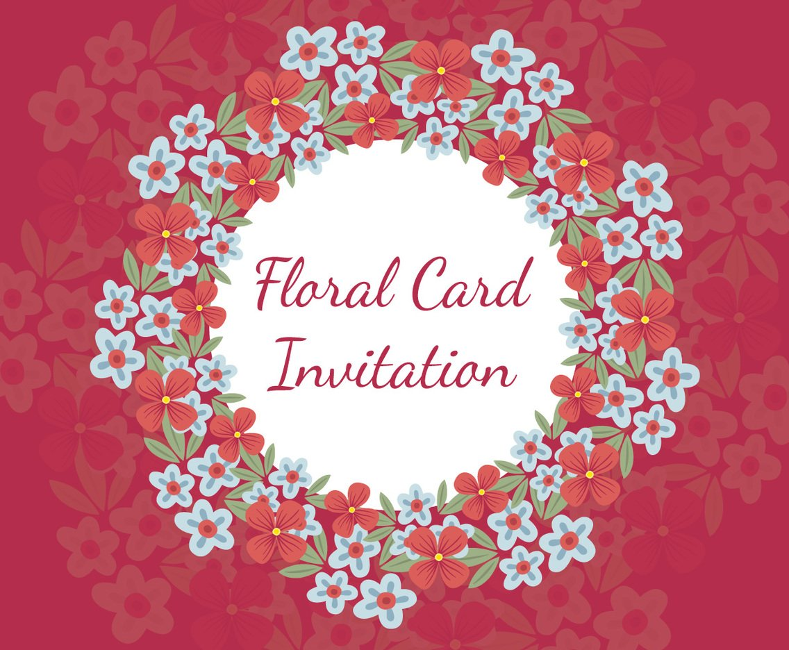 Beautiful Floral Invitation Card